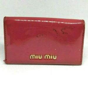 Miu Miu Pink Gold Bow 5-Key Holder